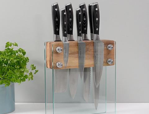 Glass Knife Block Sets