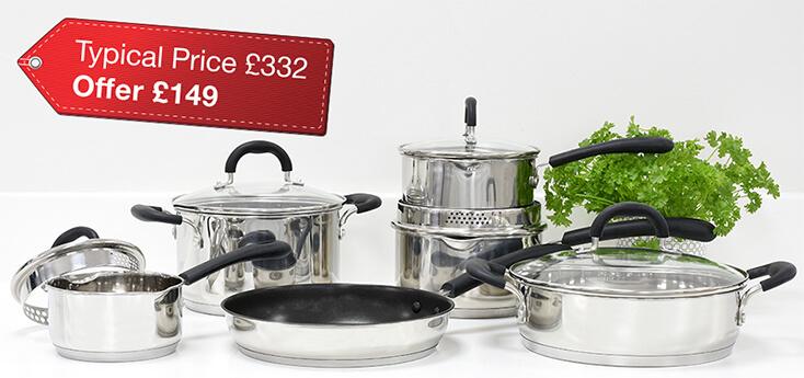 Gourmet Stainless Steel 6 Piece Cookware Set