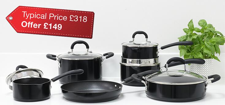 Gourmet Non-stick 6 Piece Cookware Set