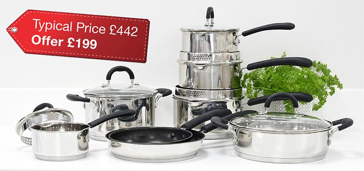 Gourmet Stainless Steel 8 Piece Cookware Set